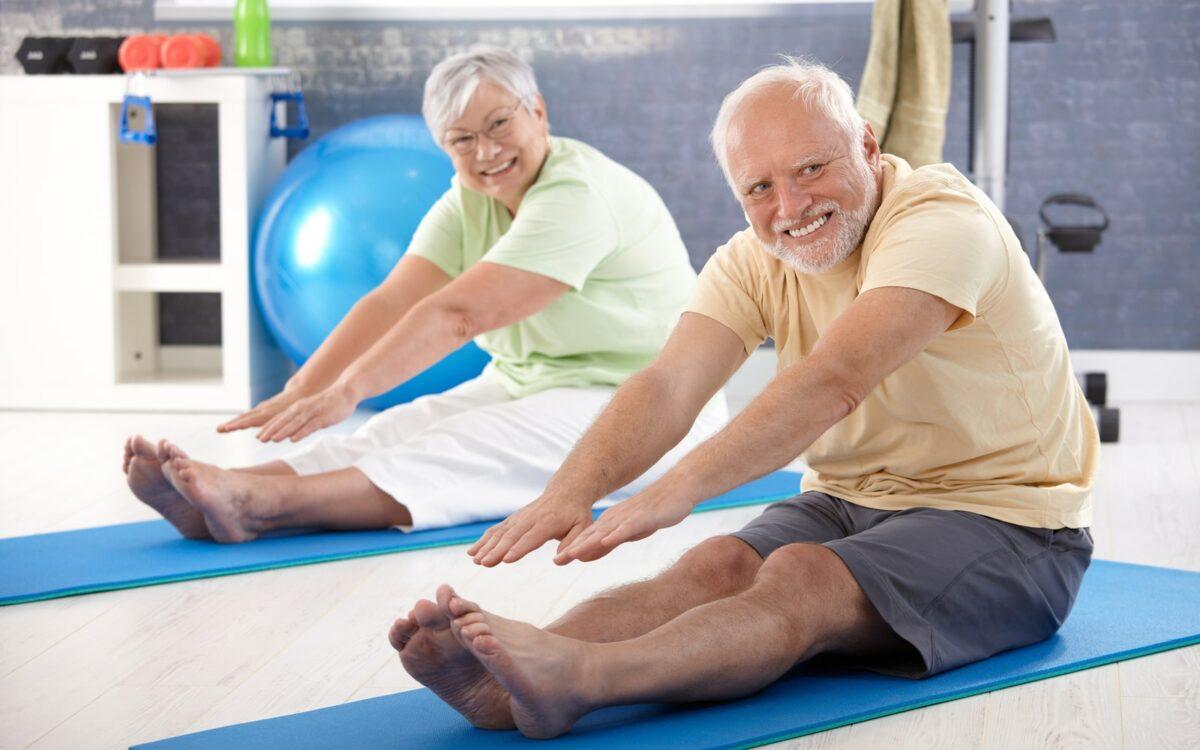 Smiling Man Exercising